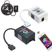Беспроводная связь Bluetooth Музыка Смартфон APP Дистанционный Контроллер для 5050 RGB LED Strip DC12-24V