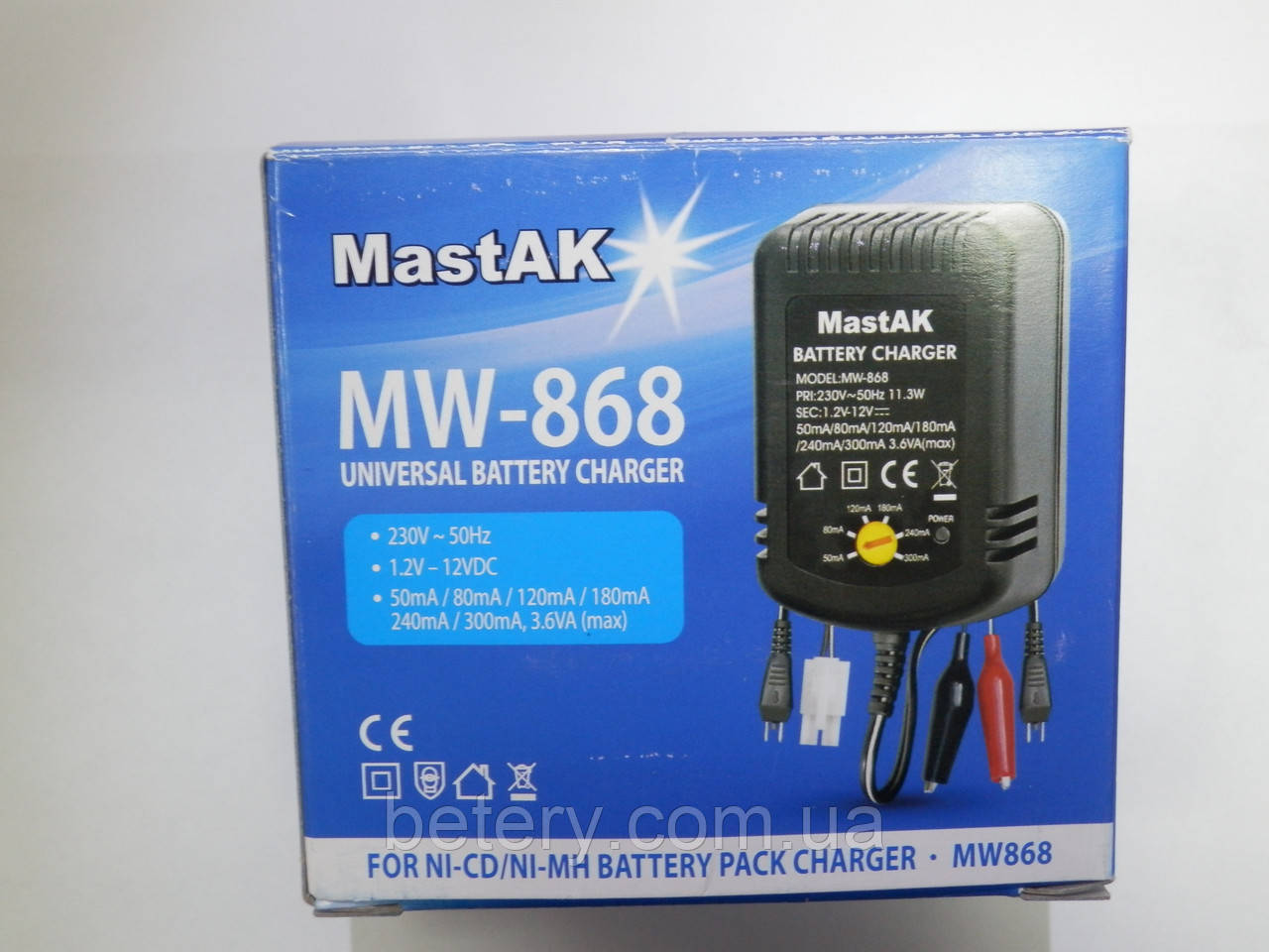 Универсальное зарядное устройство для Ni-Mh аккумуляторов MastAK MW-868