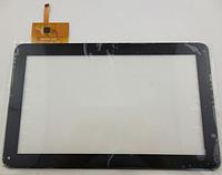 Оригинальный тачскрин / сенсор (сенсорное стекло) для YC0141-101C-B (черный цвет, самоклейка)