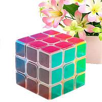 ClassicВолшебныйCubeИгрушки3x3x3ПВХ наклейка головоломка Скорость Cube Розовый Очистить