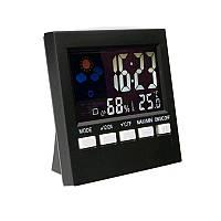 HTC-1 LCD Цифровой гигрометр Термометр Комнатный комнатный шкаф температуры Часы
