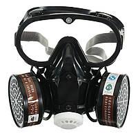 Респираторный газ Маска Защитный химический противопылевой фильтр Военный Набор защитных очков для глаз на рабочем месте Safety Prote