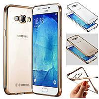 Силиконовый чехол для Samsung Galaxy J1 J100 с каймой