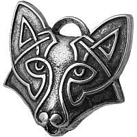 Волк Фёнрир Серебрение / Амулет кулон 3x2 см