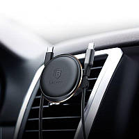 Baseus Кабельный зажим Магнитного вращения Держатель авто для телефона с зажимом для кабеля Подставка для Samsung S8 iPhone X Xiaomi