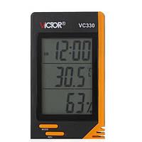 Vc330 цифровой ЖК-дисплей крытый термометр гигрометр часы измеритель влажности