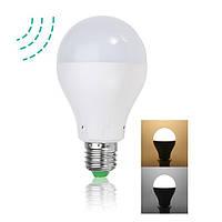 E27 4W 7W Теплый белый белый белый радар Датчик Контроль света LED Лампа для крыльца AC100-265V