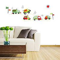 Поделки coloful автомобилей съемные наклейки на стены стикеры искусства детская комната домашний декор