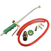 Рукоятка Пайка Факел сжигания сжигаемого сжиженного газа Пьезо пожарная зажигалка Трубка 2 переключателя