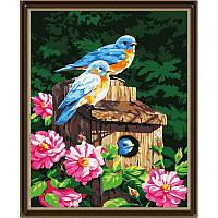 "Картина по номерам ""Птички и скворечник"" G161 (40*50 см)"