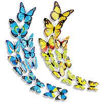 12 шт ПВХ бабочки двухэтажные 3D стены наклейки Главная декор клей стены украшения