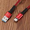 USAMS SJ171 3A Type-C 3.0 Зарядные данные Nylon Плетеный кабель 1,2 м/3,9 фута для Samsung S8 Xiaomi mi5 mi6, фото 2