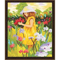 Картина по номерам Алиса с цветами G029 (40*50 см)