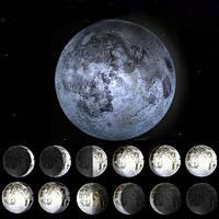 Новинка LED исцеление Луны настенный светильник-ночник с дистанционным управлением