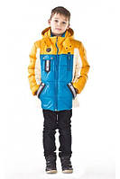 Зимняя куртка для мальчиков с капюшоном на монии