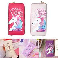 УниверсальнаякрасочнаямолнияСумкаКошелекдля телефона Unicorn Кошелек для телефона под 5,5 дюйма