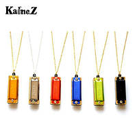 1 штук KAINE 4 Hole 8 Tone Стиль ожерелья Mini Harmonica Key of C