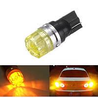 1.Автомобиля 5W Клин Янтарь желтый LED Т10 сторону хвост свою очередь удара света Лампа