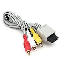 1.8м 3 строк композитный RCA аудио видео AV-кабель для Nintendo Wii в