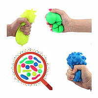 Squishy Bacteria Stress Balls Reliever Fun Подарочный стресс Вирусная модельная игрушка