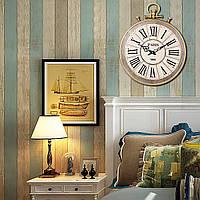 Большой раунд Винтаж Карманные часы Стиль римские цифры стены Часы Домашнее украшение