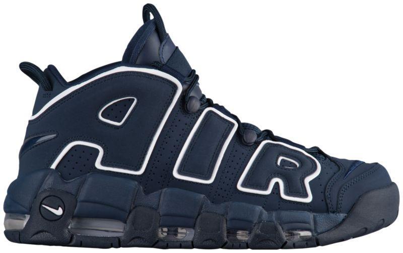 Кроссовки Кеды (Оригинал) Nike Air More Uptempo Obsidian Obsidian White a2710112d5ce4