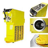 AC 110/220V Small Ice Cream Maker Желтая коммерческая машина для сорбетов с хладагентом
