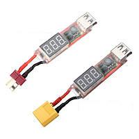 2S-6S липо к USB Адаптер конвертера питания w/цифровой дисплей 5V 2A