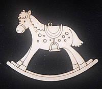 "Красивая елочная игрушка ""Лошадка"" - заготовка для творчества, лазер, 9х7см., 12/10 (цена за 1 шт. + 2 гр.)"
