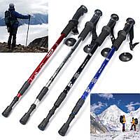 IPRee ™ 3-раздел Регулируемые Гончих Прогулки Туризм Палка Trekking Pole ледоруба с компасом Отдых Путешествия