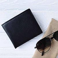 Мужской кожаный кошелек Tiding BAG A7-270-1A Черный