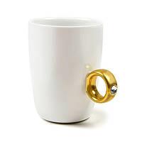 Чашка Бриллиантовое кольцо, Чашка с кольцом, 2 Carat Cup, Чашка 2 карата
