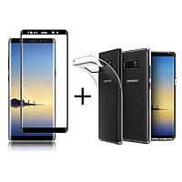 Bakeey ™ 3D Curved Edge с закаленным стеклом с прозрачным TPU Чехол для Samsung Galaxy Note 8