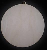 Декоративная подвеска под декупаж, дерево, лазер, диам. 10 см, 12/10 (цена за 1 шт. + 2 гр.)