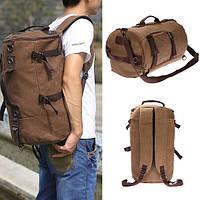 Старинный брезентовый мешок пешего туризма кемпинга рюкзака рюкзака путешествия