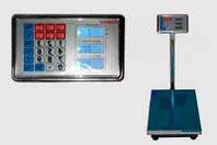 Торговые электронные, платформенные весы до 300 кг с железной головой а аккумулятором 6V