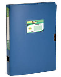 Папка-коробка, A4, 3,7 см, на липучке, цв.в асс., PP, 4-242, 4OFFICE