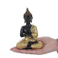 Смола Молитва Тайский Будда Сидящий орнамент Фигурка Статуя Скульптура Фигурка Медитатина