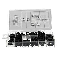 180pc Резиновые прокладки для удерживающих колец Набор прокладок для прокладки проводов Кабельные наборы для комплекта оборудования Набор