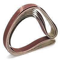7шт 1x42 дюймов Смешанные шлифовальные ленты для шлифовальных станков Набор шлифовальных ремней из оксида алюминия 80-1000