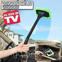 Швабра для чистки лобового стекла автомобиля, окон, зеркал Windshield Wonder