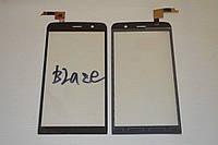 Оригинальный тачскрин / сенсор (сенсорное стекло) для Explay Blaze (черный цвет) + СКОТЧ В ПОДАРОК