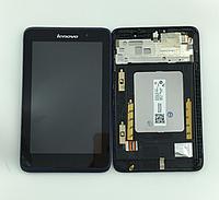 Оригинальный дисплей (модуль) + тачскрин (сенсор) с синей рамкой для Lenovo IdeaTab A7-50 A3500