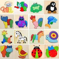 Собранный 3д животные деревянный пазл дошкольного образования игрушки