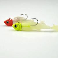 8см световой пакет приводить рыбы мягкие приманки приманки бас бионический крюк