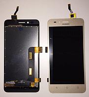 Оригинальный дисплей (модуль) + тачскрин (сенсор) для Huawei Y3 II 3G (золотой цвет)
