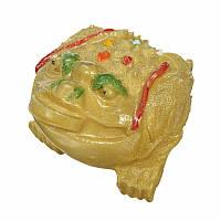Статуэтка смолы Статуя Китайская лягушка Жаба монета Феншуй Главная Декоративное оборудование