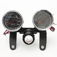 Универсальный LED мотоцикл tachometer+odometer мера спидометра