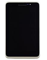 Оригинальный дисплей (модуль) + тачскрин (сенсор) с белой рамкой для Lenovo IdeaTab A7-50 A3500