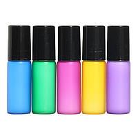 15Pcs 5 мл смешанного цвета Ролик Бал стеклянная бутылка Маленький контейнер для парфюма Essential Масло